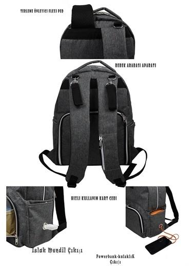 Stylo Duo Backpack For Mothers Bebek Bakım Sırt Çantası Gri